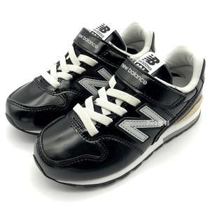 《7+1童鞋》中童 New Balance YV996GBK  皮面 復古 休閒 運動鞋 9431 黑色