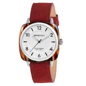 【萬年鐘錶】BRISTON  法國時尚錶框  熱情紅皮帶 18536-SA-RE-2G-LNR