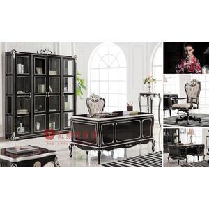 [紅蘋果傢俱] SZ-011 雅致系列 新古典 歐式 法式 書桌椅 橢圓餐桌 桌子 餐椅 椅子 工廠直營