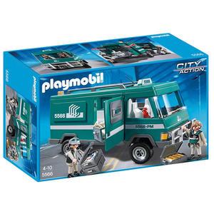 摩比積木 playmobil 運輸系列 運鈔車