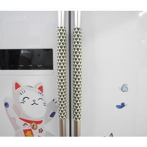 防塵靜電布藝對開門冰箱門拉手套把手套加長加厚手把套可訂製 英雄聯盟