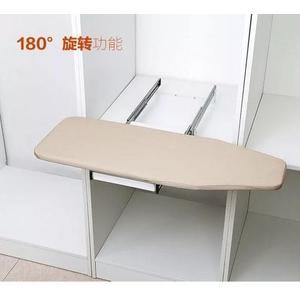 旋轉燙衣板家用衣櫃折疊櫃內隱藏式熨衣板實木推拉旋轉電熨鬥托板XW