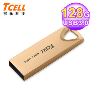【TCELL 冠元】USB3.0 128GB 浮世繪鋅合金隨身碟/錦金