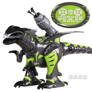 遙控玩具遙控恐龍霸王龍機器人觸摸跳舞高科技大號仿真動物充電動男孩玩具xw
