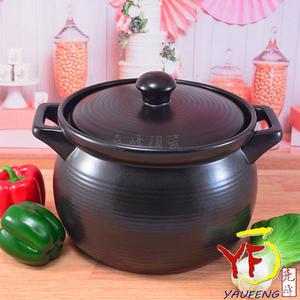 免運[鶯歌製造] 廚房系列 10號深鍋 嚴選滷味黑鍋 陶鍋 燉鍋 (7~8人份)超耐用 | 營業用