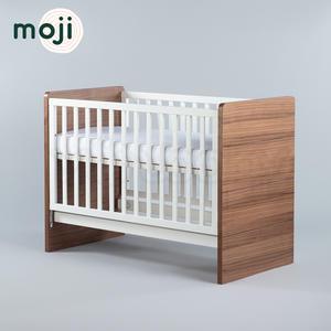 德國 Moji Dreamy 成長型原木嬰兒床(含床墊)-琥珀棕【加贈-純棉床包】