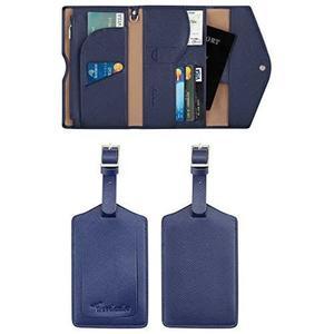 Travelambo-RFID技術,護照旅行錢包(藍色)
