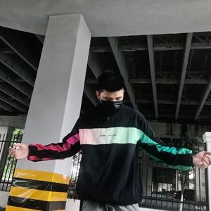 palace 彩虹漸變外套男女運動服情侶夾克風衣 半拉鍊套頭衝鋒衣