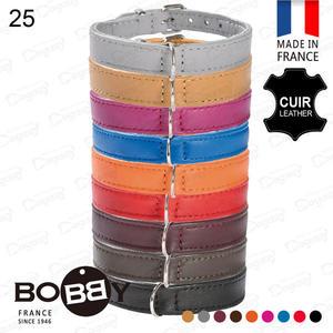 法國《BOBBY》銀環小羊皮項圈[25] 手工頂級小羊皮 真皮項圈 貴賓/吉娃娃/馬爾濟斯/博美
