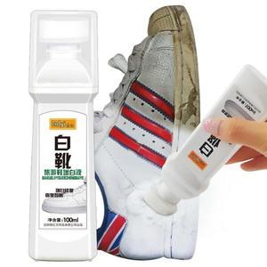 白鞋清潔劑 小白洗鞋神器刷一擦白清潔劑白鞋清洗液神奇去黃增白專用洗白去污 霓裳細軟