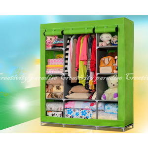 【三門加大衣櫃2號】DIY組裝三開式無紡布覆膜衣櫥 多層收納置物櫃 衣櫃