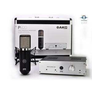 【音響世界】AKG P820 Tube雙大震膜真空管電容式麥克風附德國原廠噴麥罩+PRO CO鍍金麥克風線-0利率