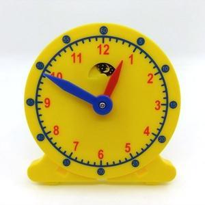 【USL 遊思樂】日月鐘(10cm,無數線,雙色版) 教具 玩具 教材 數學教具 教學時鐘 小時鐘