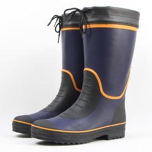 雨鞋 雨鞋男款秋冬保暖絨防水高筒橡膠套鞋膠鞋膠靴防滑釣魚鞋長筒水鞋 晶彩生活