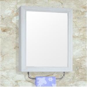 單門白木紋寬50公分太空鋁浴室鏡櫃掛牆式吊櫃衛生間鏡箱儲物櫃