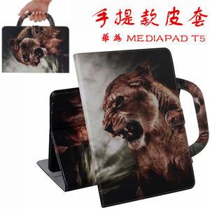 彩繪皮套 華為 MediaPad T5 平板皮套 保護套 保護殼 翻蓋 支架磁釦 動物 卡通彩繪 老虎 八哥犬 防摔