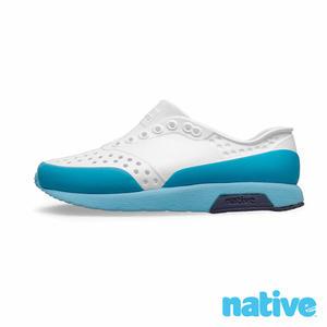 native 小童鞋 LENNOX 小雷諾鞋-貝殼白 x 濕地藍