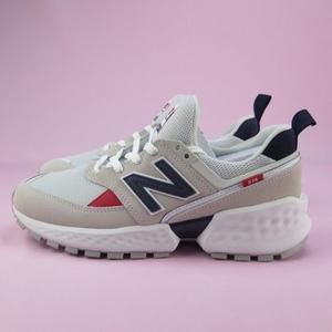 【iSport愛運動】New Balance 復古休閒鞋 公司正品 MS574GNC 男款  麂皮 象牙白