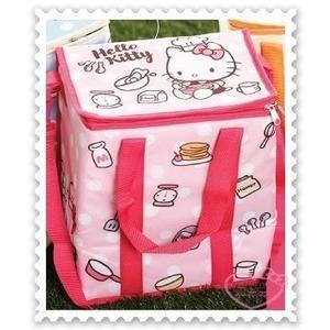 ♥小花花日本精品♥ Hello Kitty 7-11集點商品 限量立體保冷袋 戶外保冷袋 野餐袋 13公升