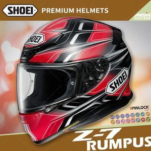 [中壢安信]日本 SHOEI Z-7 彩繪 RUMPUS TC-10 黑紅 全罩 安全帽 小帽體
