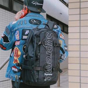 現貨 Supreme 45Th Backpack 後背包 菱格 登山 24L 大容量 黑色/紅色