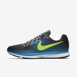 Nike Air Zoom Pegasus 34 [880555-004] 男鞋 慢跑 運動 休閒 黑 螢黃
