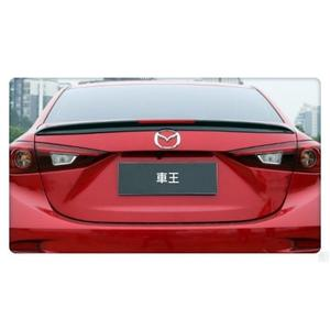【車王小舖】 All New Mazda 3 馬3 全新馬3 馬自達3 尾翼 碳纖維紋 反光片 導流板