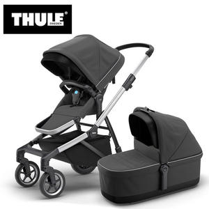 【愛吾兒】瑞典 THULE Thule Sleek推車+睡箱 巨石灰
