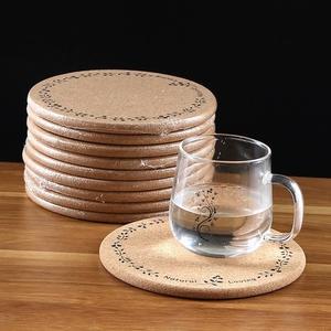 5個裝圓形軟木隔熱墊鍋墊加厚餐墊盤子菜墊子碗墊防滑防燙餐桌墊