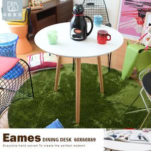 一圓餐桌三餐椅組 洽談桌椅 書桌椅 復刻北歐瑞士 60cm圓桌+DSW 三椅4,990元【Z-211】品歐家具