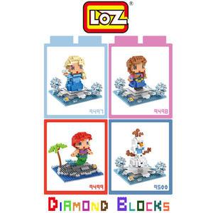 LOZ 迷你鑽石小積木 冰雪奇緣 艾莎 安娜 美人魚 雪寶 樂高式 組合玩具 益智玩具 原廠正版