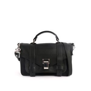 【PROENZA SCHOULER】牛皮Tiny小型 PS1 兩用包(黑色) H00450 C175P 0000