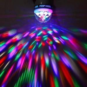 LED燈泡E27螺七彩KTV酒吧魔球燈舞台燈旋轉燈激光閃燈七彩魔球燈『櫻花小屋』
