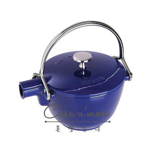 Staub 鑄鐵 水壺 茶壺 1.15 L 圓形 法國製 深藍
