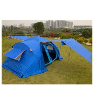 戶外裝備全自動帳篷雙層多人旅游大帳篷5-8人兩房一廳野營帳篷【快速出貨】