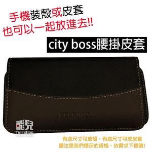 【飛兒】City Boss 腰掛皮套 三星 J6(2018)/J7 Prime/J7+ 通用皮套 手機套 (C)