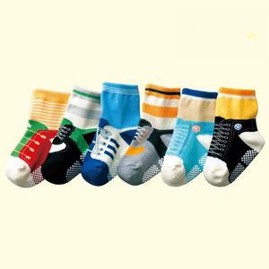 童裝 現貨 棉質6件組假鞋襪造型防滑襪,可選男女款【A49】