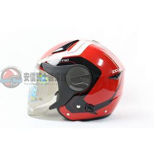 [中壢安信]ZEUS瑞獅安全帽 ZS-612A ZS612A AD4 大紅白 安全帽 半罩式安全帽