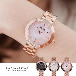 韓國GUOU想念的兩端金屬鍊帶手錶【WGU8092】璀璨之星☆