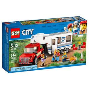 樂高積木LEGO 城市系列 60182 皮卡車&露營車