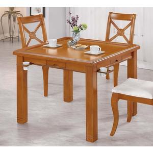 【森可家居】羅傑斯柚木餐桌兼麻將桌 8CM1024-5 不含椅