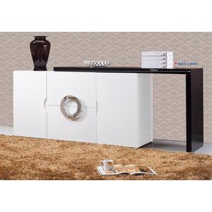 【森可家居】帕克5尺白色伸縮餐櫃 7JF410-1 廚房收納櫃 中島 L型 簡約風