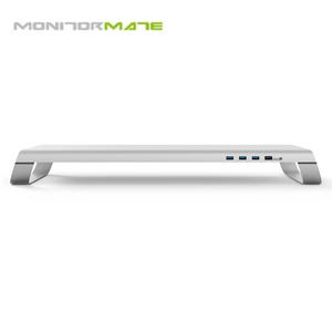 MONITORMATE miniS 多功能螢幕架 USB 3.0+充電底座 北歐銀