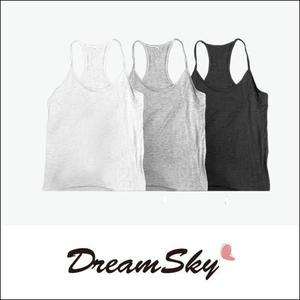 泰國(單肩)小背心 涼感彈性  黑 灰 白 (隨機出貨) dreamsky