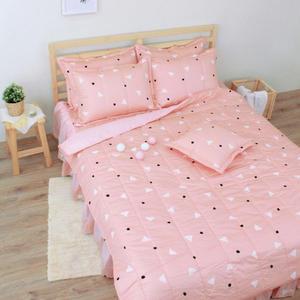 清新日和 單人鋪棉床罩組(3.5x6.2呎)五件式(100%純棉)桔色[艾莉絲-貝倫] MIT台灣製T5H-KF2640-OG-S