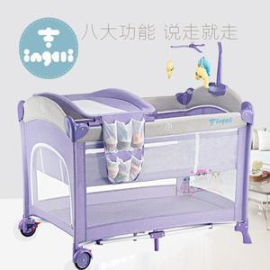 嬰兒床嬰吉利歐式嬰兒床 遊戲床可摺疊便攜式多功能兒童寶寶搖床尿布 小明同學NMS