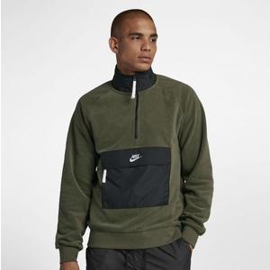 Nike Nsw 墨綠 黑 口袋 刷毛 立領 衝鋒衣  929098-395 ☆SP☆