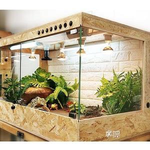 陸龜飼養保溫箱 爬蟲寵物爬箱 蜥蜴刺?飼養盒木箱玻璃ATF 享購