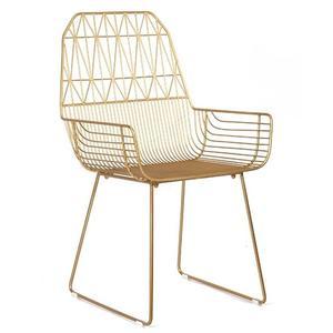 《Chair Empire》工業風餐椅/LOFT椅/裸空鐵網椅/金屬椅/金色扶手椅/北歐椅/休閒椅/鐵椅