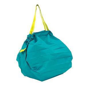 【Shupatto】 輕巧秒收環保袋(M/藍綠色) 折疊 大容量 環保袋 購物袋 萬用包 旅行收納 日本MARNA